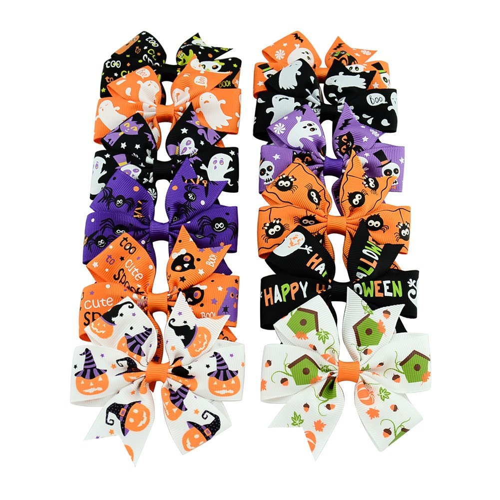 Dogs Kingdom Small Puppy Dog Christmas Bow Ties Christmas Dog Cat Pet Hair Bows Dog Hair Grooming Accessories 10pcs