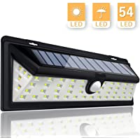KINGSO Solar Lights Motion Sensor 54LED Solar Powered Outdoor Security Light for Garden Yard Pathway Wall Patio Deck Steps Garage RV - Waterproof Lamp