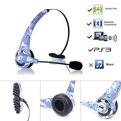 fb23381e4a5 ... kiwitatá Camouflage Wireless Bluetooth Headset Headphone For Sony  Playstation 3 PS3 Gaming Headset With Mic Microphone ...