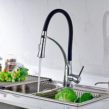 timaco küchenarmatur armatur spüle spültischarmatur wasserhahn ... - Mischbatterie Küche Schwarz