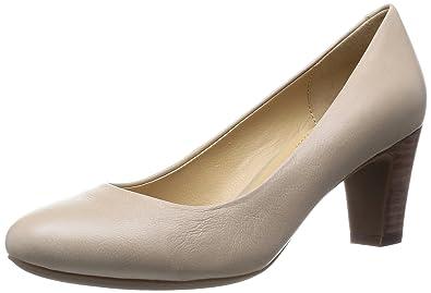 68d56791492 Geox D Mariec Mid B - Zapatos de vestir de cuero para mujer Beige Beige (Lt  Taupe) 35  Amazon.es  Zapatos y complementos