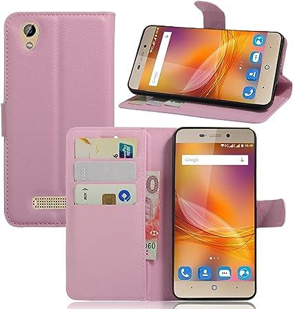 Guran® Funda de Cuero Para ZTE Blade A452 Smartphone Tirón de la Cubierta de la Función de Ranura Tarjetas y Efectivo Caso: Amazon.es: Electrónica