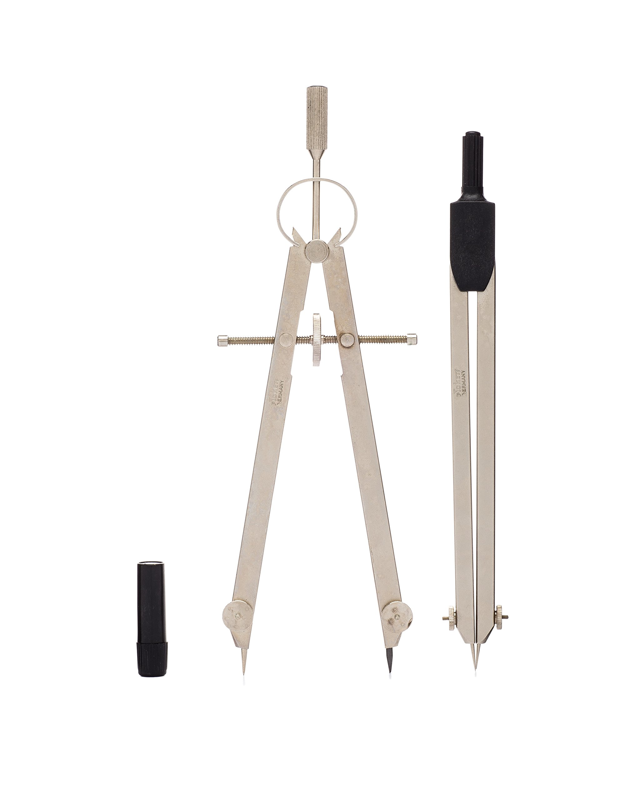 Pickett Professional 2-Piece Drafting Set, Includes Compass, Divider, Spare Leads and Points, 1 Each (1504N)