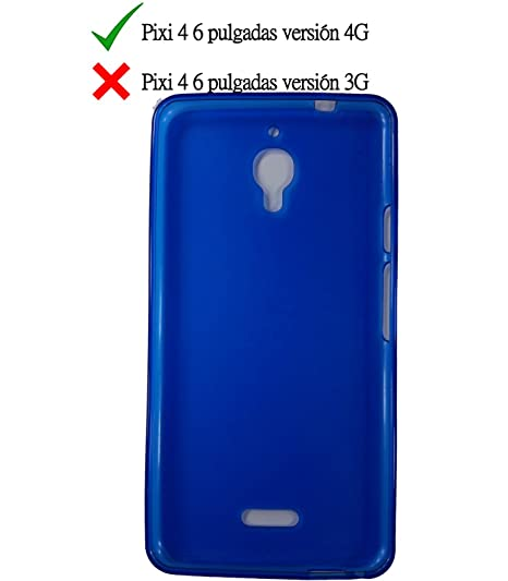 Funda de gel TPU carcasa protectora silicona para Alcatel Pixi 4 6.0 4G Azul