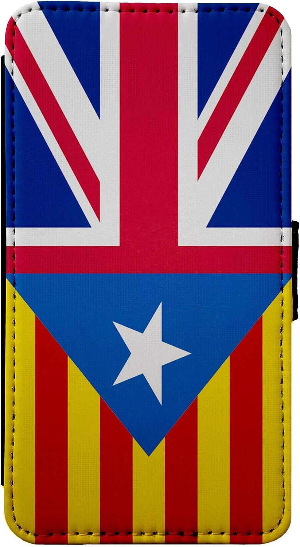 ShopQuality4U España catalán de la Bandera del Reino Unido Mezcla tirón del Cuero de la Caja del teléfono de la Piel Cubierta de la Carpeta para el iPhone XR: Amazon.es: Electrónica