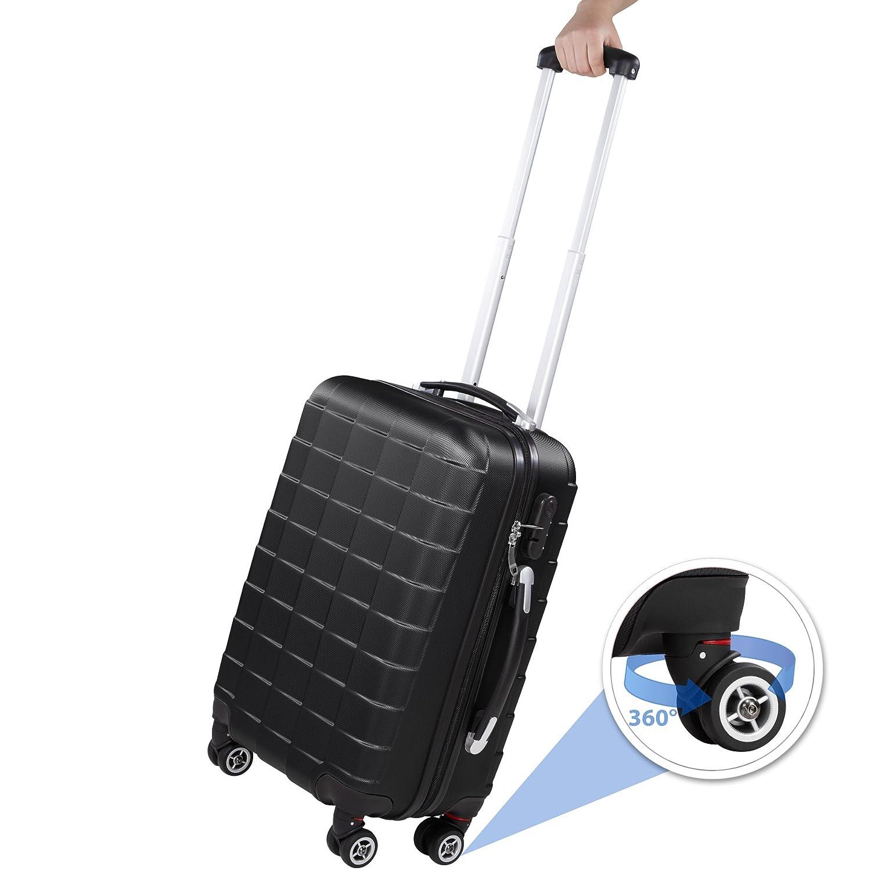 0dbcf9195 TecTake Set 3 piezas maletas ABS juego de maletas de viaje trolley maleta  dura | 4. Ampliar imagen