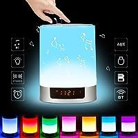 Lámpara Altavoz Bluetooth Wireless, LED Lámpara de Mesa