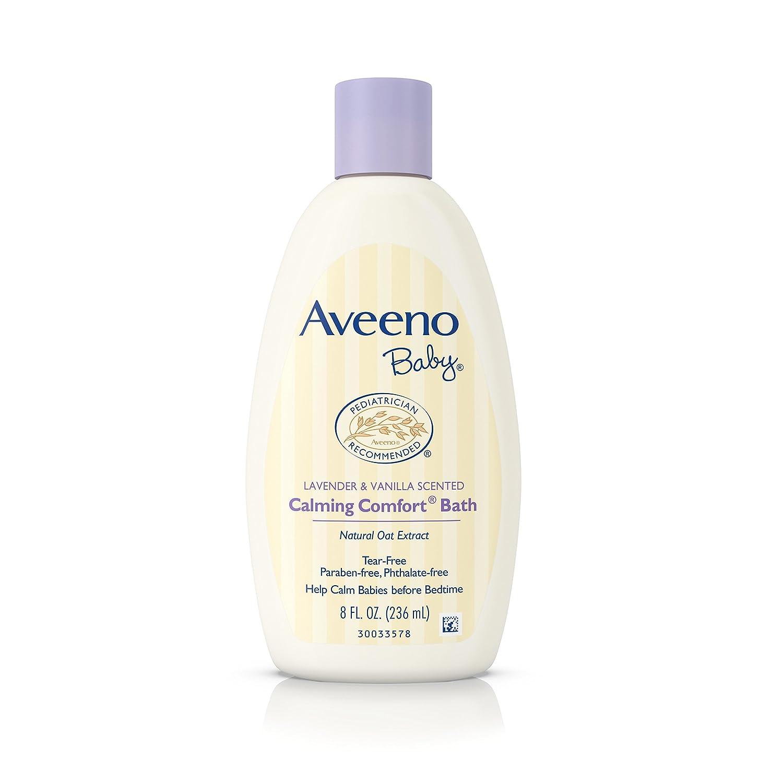 Aveeno Baby Calming Comfort Bath Wash, Tear Free, Lavender & Vanilla, 8 Fl. Oz. (Pack of 6) Johnson & Johnson SLC