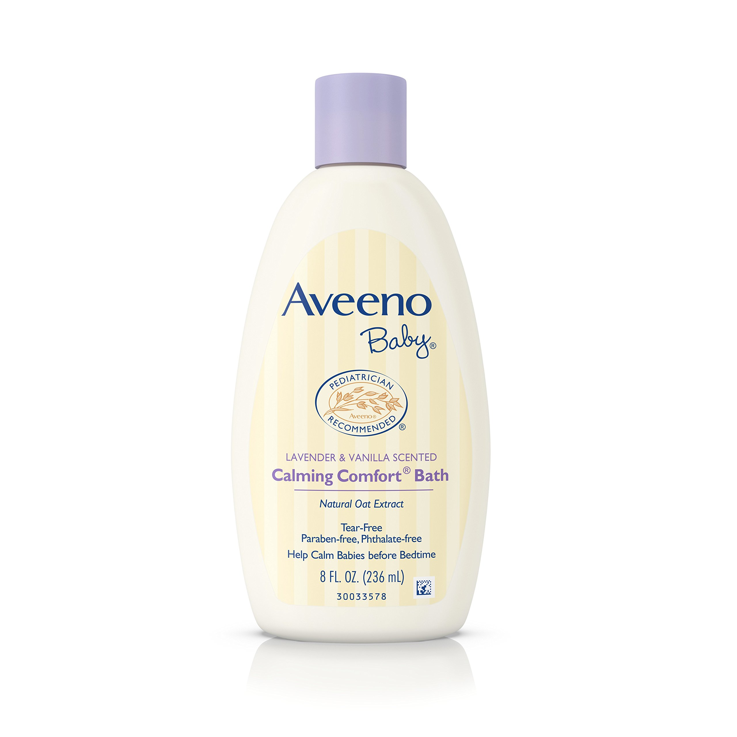 Aveeno Baby Calming Comfort Bath Wash, Tear Free, Lavender & Vanilla, 8 Fl. Oz. (Pack of 6) by Aveeno Baby