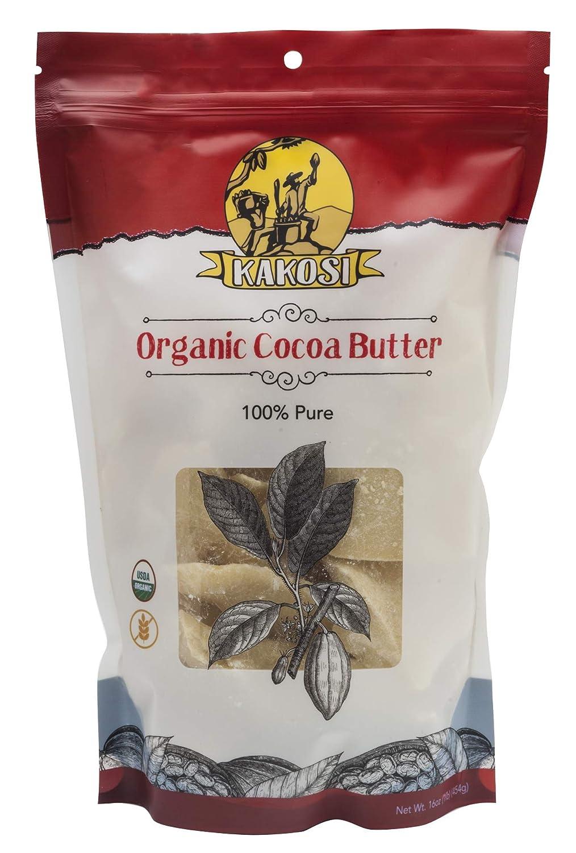 KAKOSI – Organic Raw 100% Pure Cocoa Butter - 16 oz.