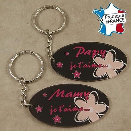lot 2 portes clefs 1 papy 1 mamy cadeau anniversaire nol pour - Anniversaire Mamie 2