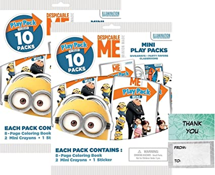Amazon Com Illuminations Despicable Me 20 Mini Play Packs Party