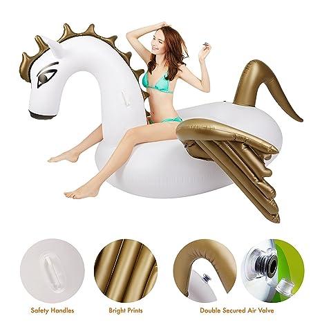 Juguete Inflable Gigante de Pegaso, Juguetes Flotadores para Piscina, para Playa, Fiesta de Piscina y de Salón para Adultos y Niños: Amazon.es: Juguetes y ...