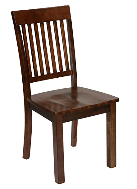 Amazon Com Cortesi Home Kingston Mission Style Dining Chairs In