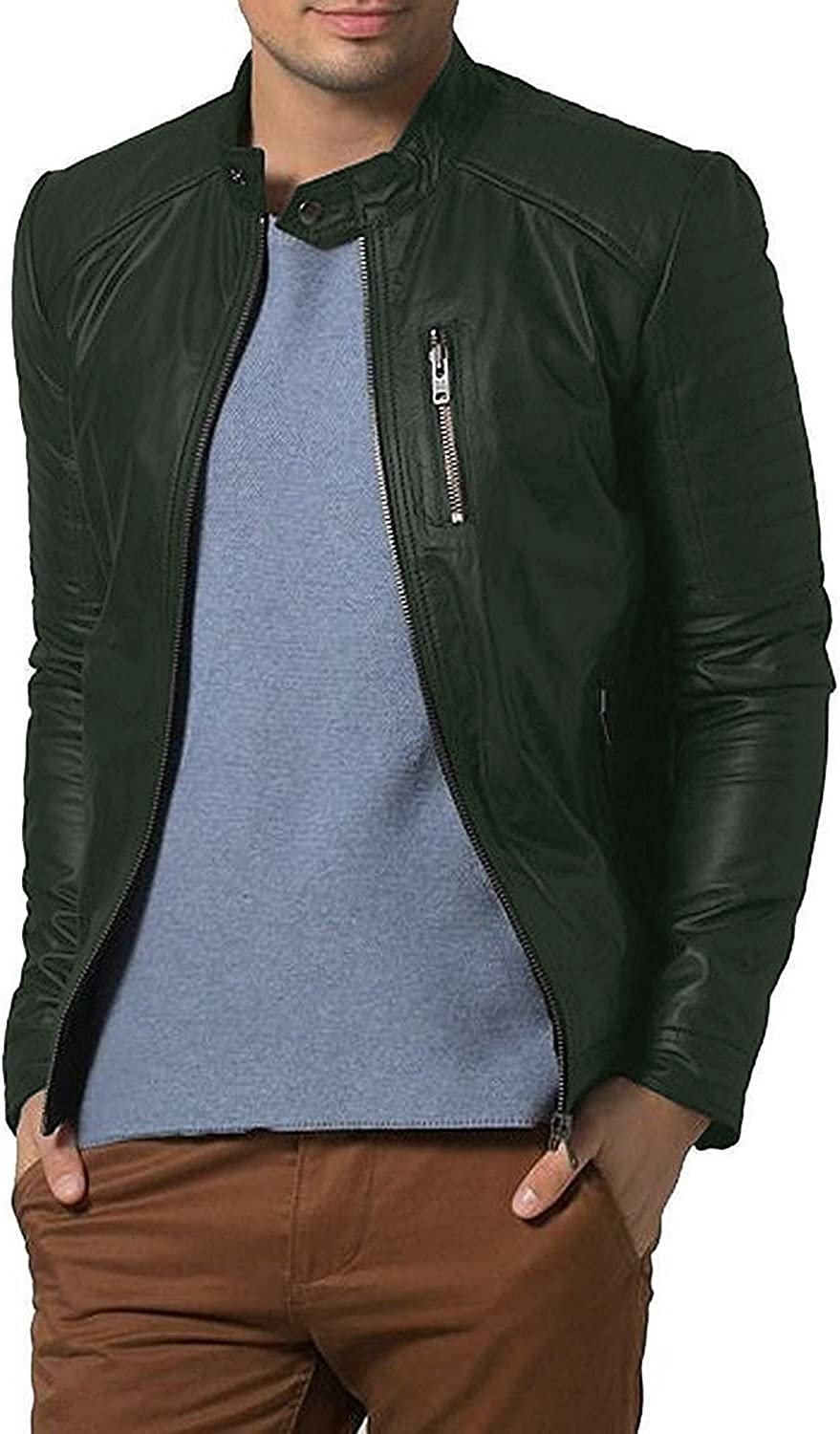 1501193 Black, Racer Jacket Laverapelle Mens Genuine Lambskin Leather Jacket