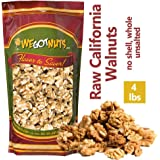 California Raw Walnuts- 4 Pounds, Resealable Package-Fresh, No Shell, Unsalted-All Natural Dry Halves and Chopped Pieces…