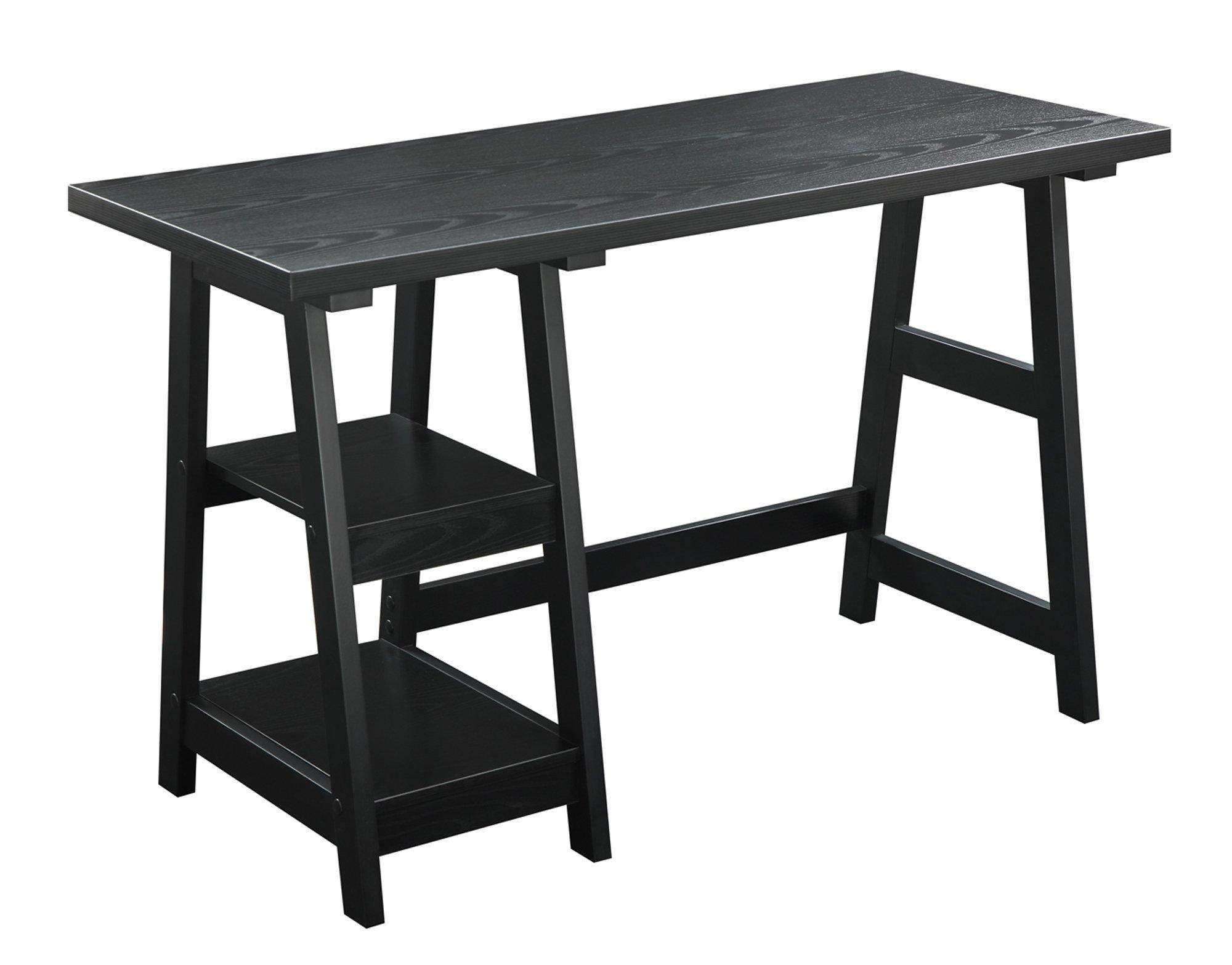 Convenience Concepts Designs2Go Trestle Desk, Black by Convenience Concepts