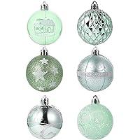 TOYANDONA 24pcs Christmas Ball Ornaments Xmas Shatterproof Baubles Christmas Tree Pendant Holiday Hanging Decoration for…