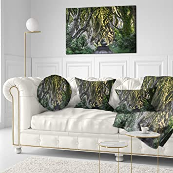 Yellow Dark Hedges Ireland Portrait Scenic Canvas Wall Art Large Picture Prints