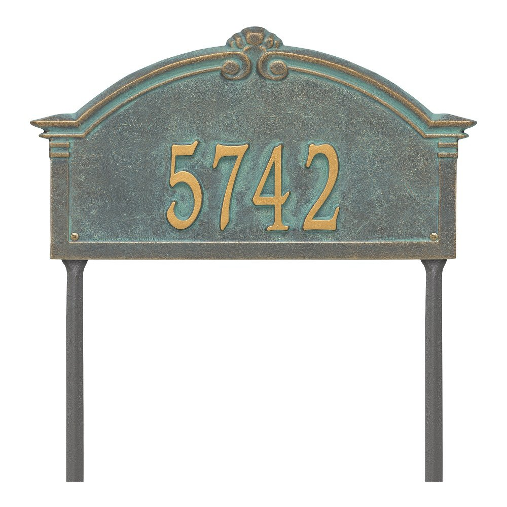Custom Roselyn Arch Grande LAWN Address Plaque 19''W x 10''H (1 Line)