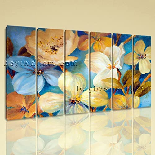 Amazon.com: Large Tropical Flowers Painting Flower Wall Art Living ...