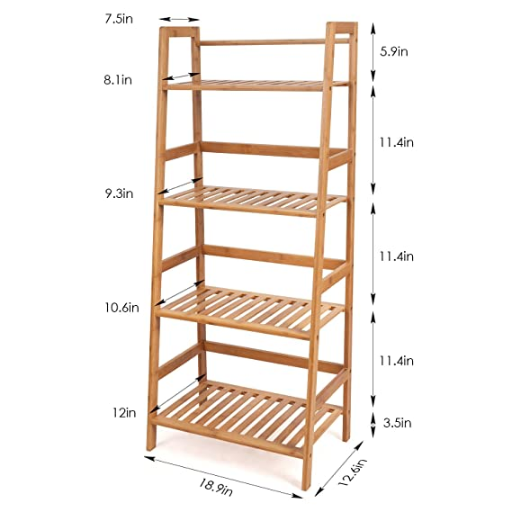 Bathroom Fixtures Home Improvement Icoco Wooden Bathroom Shelf Rack Staircase Storage Wall Mounted Bookshelf Ladder Racks Bathroom Accessories Wall Decoration Cheapest Price From Our Site