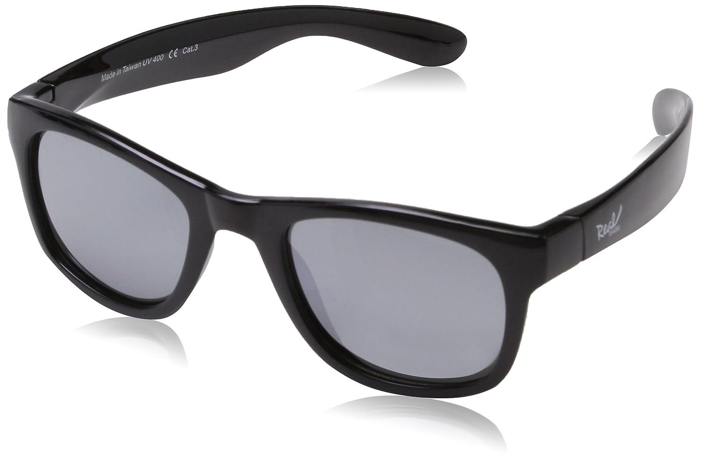 Surf Wayfarer Gafas de sol infantiles, ajuste flexible, tamaño 4+ negro negro Real Kids 4SURBLK