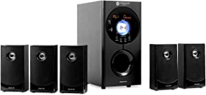 auna Areal Active 620, 5.1 Channel Loudspeaker System, Home Entertainment System, Radio Tuner, Connections: USB/SD/AUX/RCA Output + Input, 90 watts RMS, Bluetooth, Black