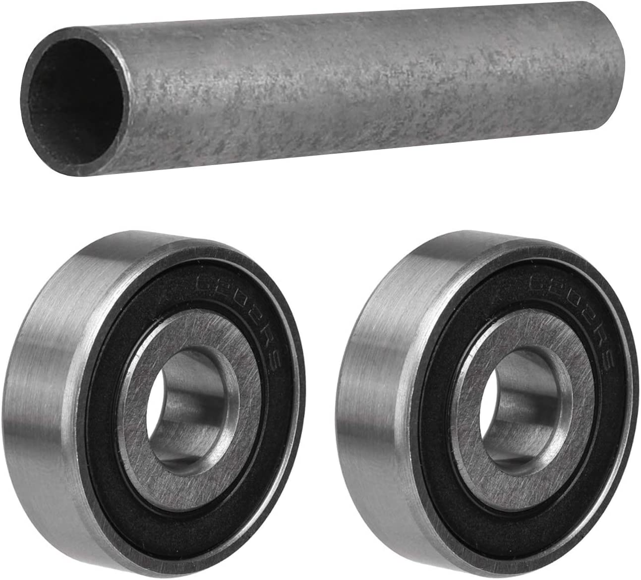 TDPRO Pair 6202 RS Ball Bearings with Front Spacers Bushes Sleeves for 15mm to 12mm Dirt Pit Bike Wheel Axle Front Spacer