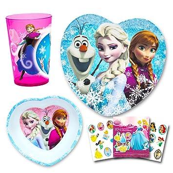Disney Frozen Toddler Dinnerware Set - Plate Bowl Cup Stickers  sc 1 st  Amazon.com & Amazon.com : Disney Frozen Toddler Dinnerware Set - Plate Bowl Cup ...