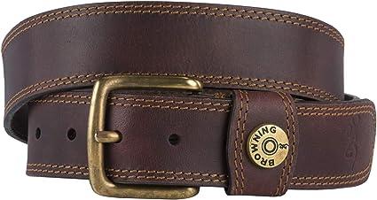 Brown 15 MAN~ LEATHER BELT~12-Guage Shotgun Shell Conchos