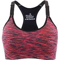 Aibrou Sujetador Deporte Mujer con Relleno Elastico y Transpirable Sujetadores Deportivo Gimnasio Yoga Fitness Ejercicio
