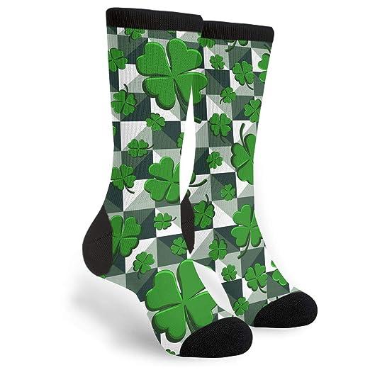 aec5a44750da8 Amazon.com: St. Patrick's Day Lucky Four-Leaf Clover Printed Unisex ...