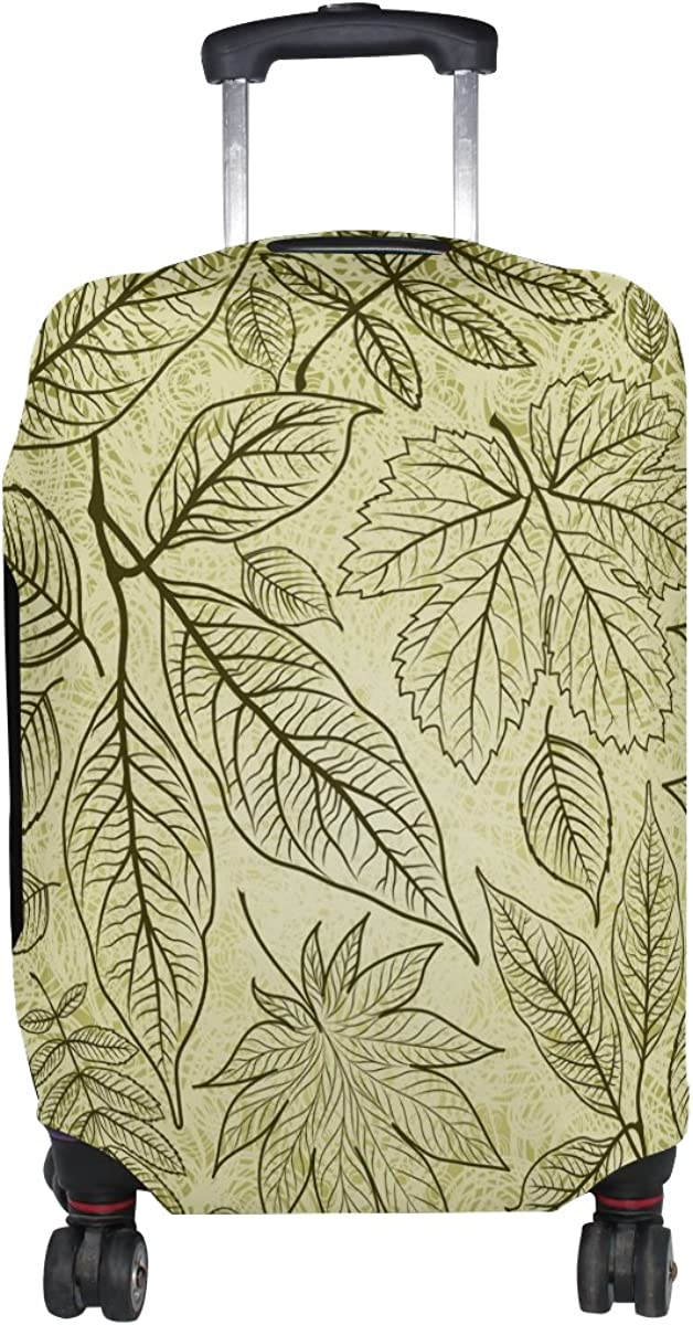 GIOVANIOR Grunge Autumn Leaves Luggage Cover Suitcase Protector Carry On Covers