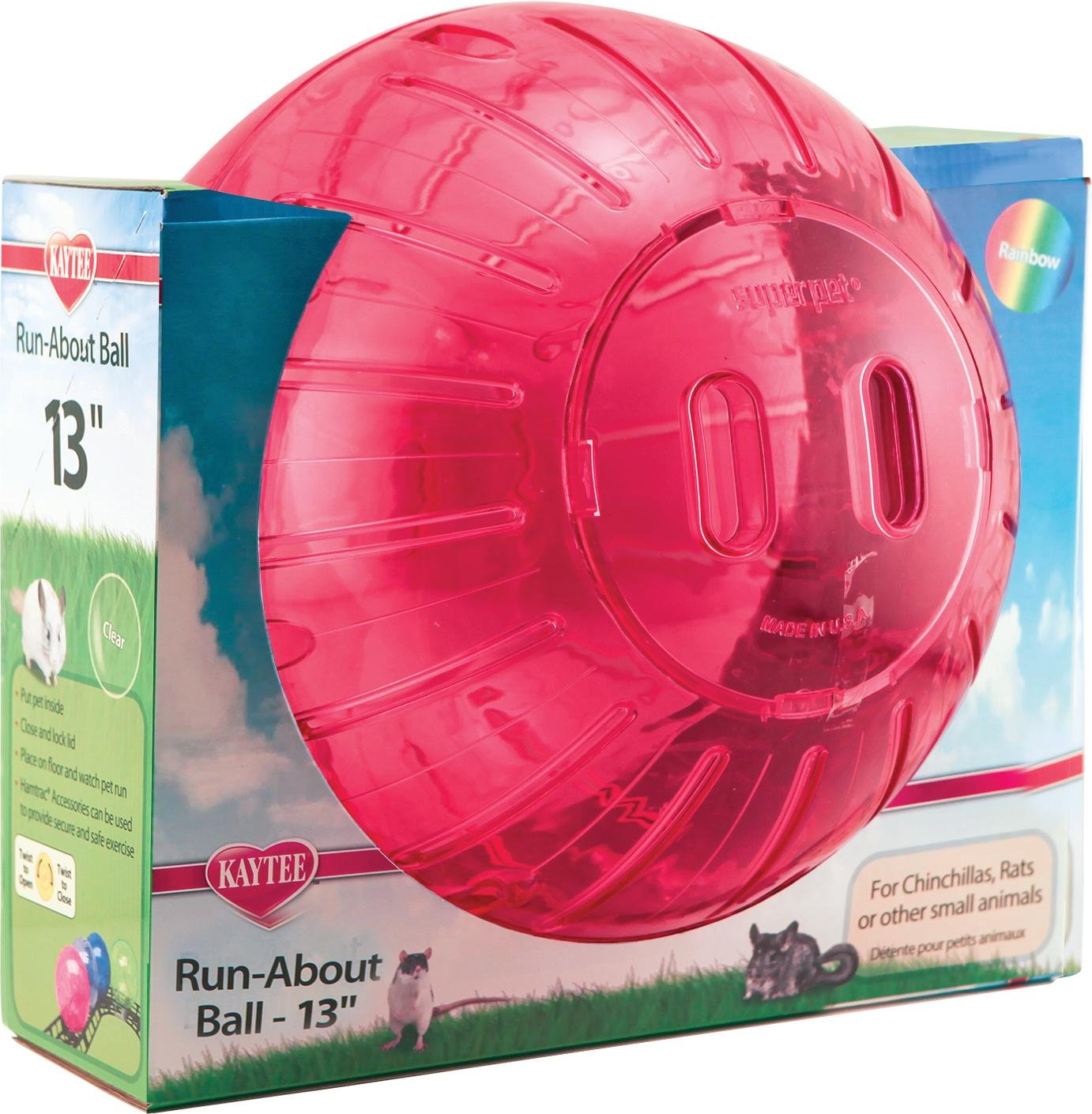 SUPER PET Run-About Ball-Rainbow Assorted MEGA/13 in