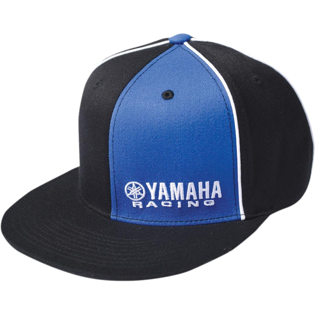 6faea532bf5 Amazon.com  Factory Effex Yamaha Racing Flexfit Hat (Large X-Large)  (Black Blue)  Automotive