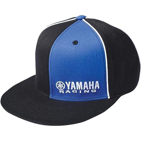 0d500ef6f0683 Amazon.com  Factory Effex Yamaha Racing Flexfit Hat (Large X-Large)  (Black Blue)  Automotive