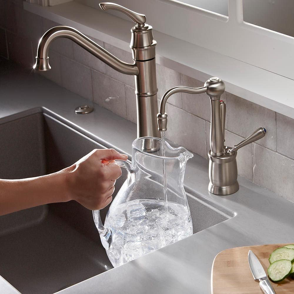 Insinkerator F Hc2200sn Antique Instant Hot And Cold Water Dispenser Faucet Only Satin Nickel Insinkerator Instant Hot Amazon Com