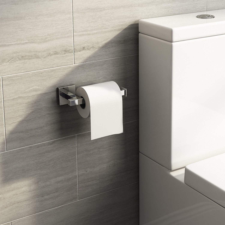 Soak Accesorio de baño: Moderno porta rollo de papel higiénico cuadrado y acabado cromado: iBathUK: Amazon.es: Bricolaje y herramientas