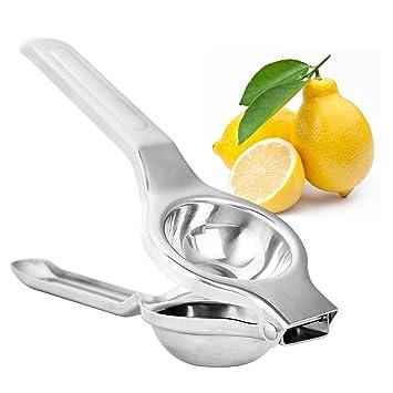 hikwi exprimidor de limones amarillo limón naranja profesional de acero inoxidable manual exprimidor de limones: Amazon.es: Hogar