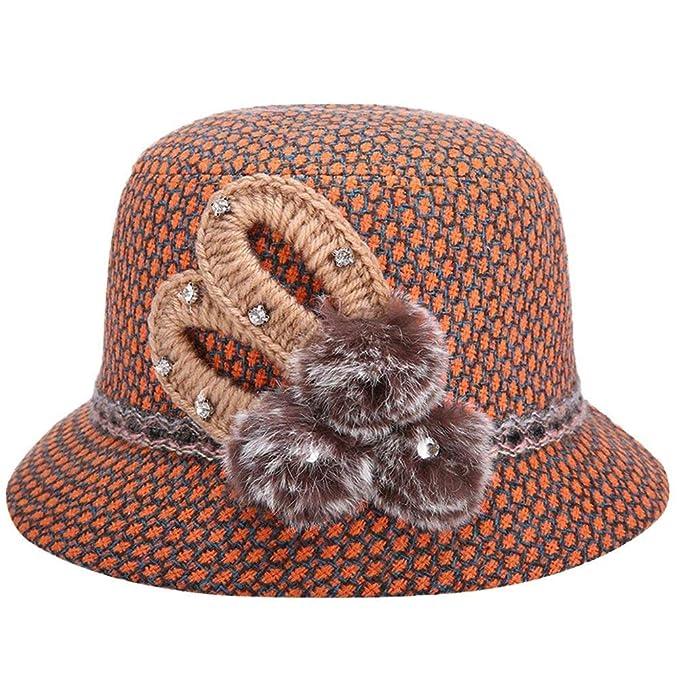Gorras Sombrero De Campana Para Mujer Pesca De Ocasional Sombrero De Moda Sombrero De Fieltro Elegante