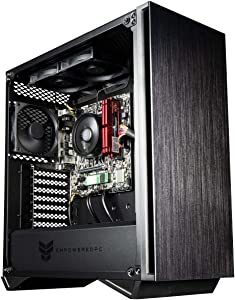 Empowered PC Sentinel Gaming PC (No OS, AMD Ryzen 3, 16GB RAM, 512GB NVMe SSD, 500W PSU, AC WiFi) Tower Gaming Desktop Computer