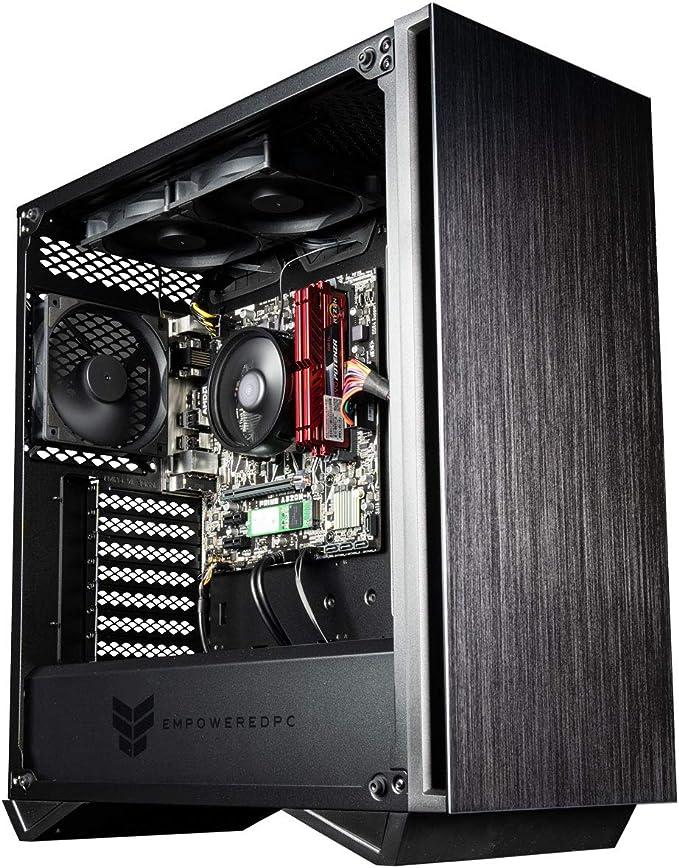 Empowered PC Sentinel Gamer PC (AMD Ryzen 5 with Radeon Graphics, 16GB 3200MHz DDR4 RAM, 512GB NVMe SSD, 500W PSU, AC WiFi, Windows 10 Home) Tower Gaming Desktop Computer   Amazon