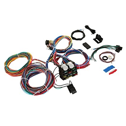 amazon com bestequip 12 standard circuit universal hot rod wiring rh amazon com hot rod wiring harness ls1 hot rod wiring harness universal