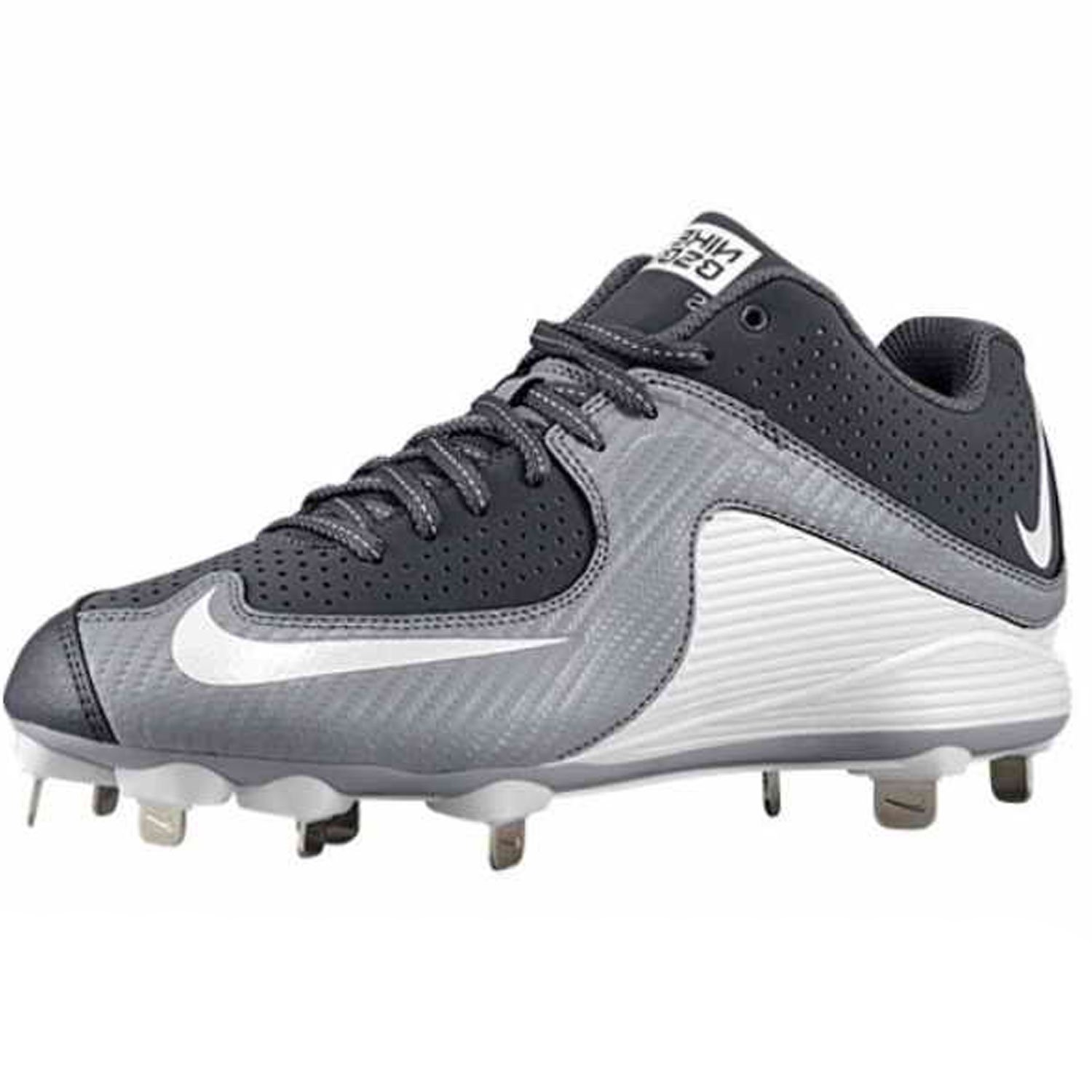 Nike Men's MVP Strike Low Metal Baseball Cleat B00JEME0QK 14.0, 14.0|Graphite/White