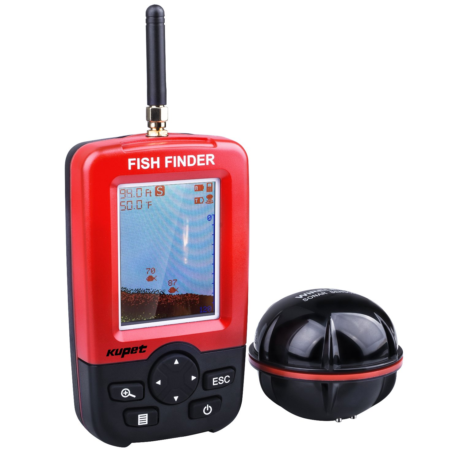 Wireless sounder for fishing in winter and summer 85