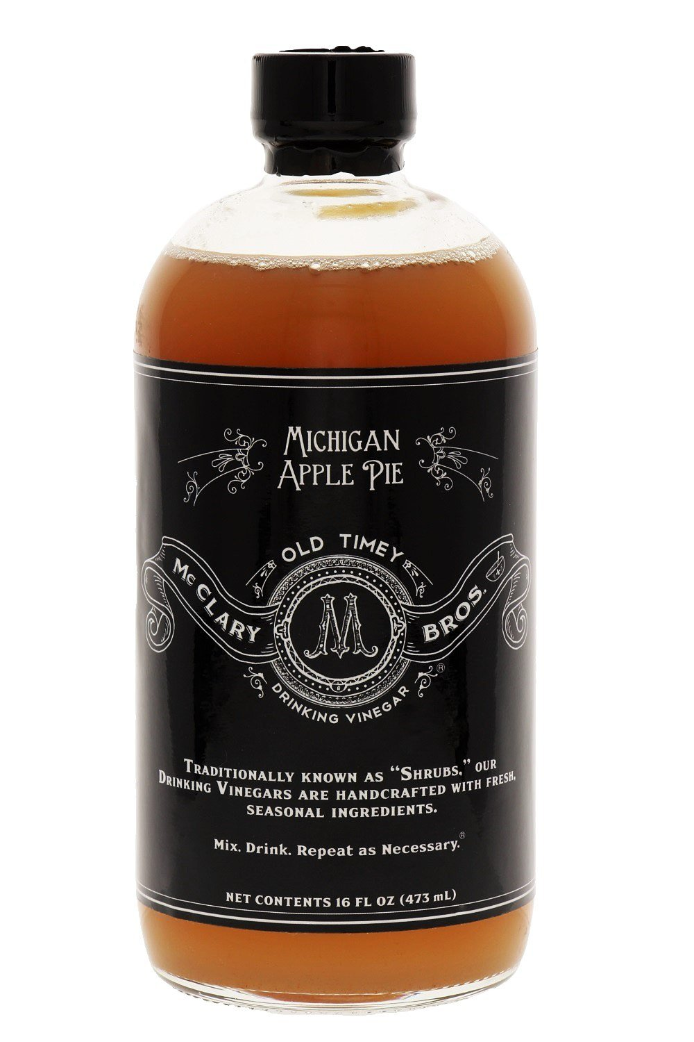 McClary Bros- Michigan Apple Pie- Handcrafted Drinking Vinegars- For Cooking, Craft Sodas and Shrub Cocktails