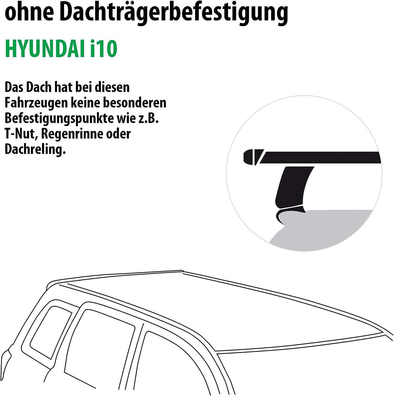 Dachtr/äger Tema f/ür Hyundai i10 Rameder Komplettsatz 118774-07368-20