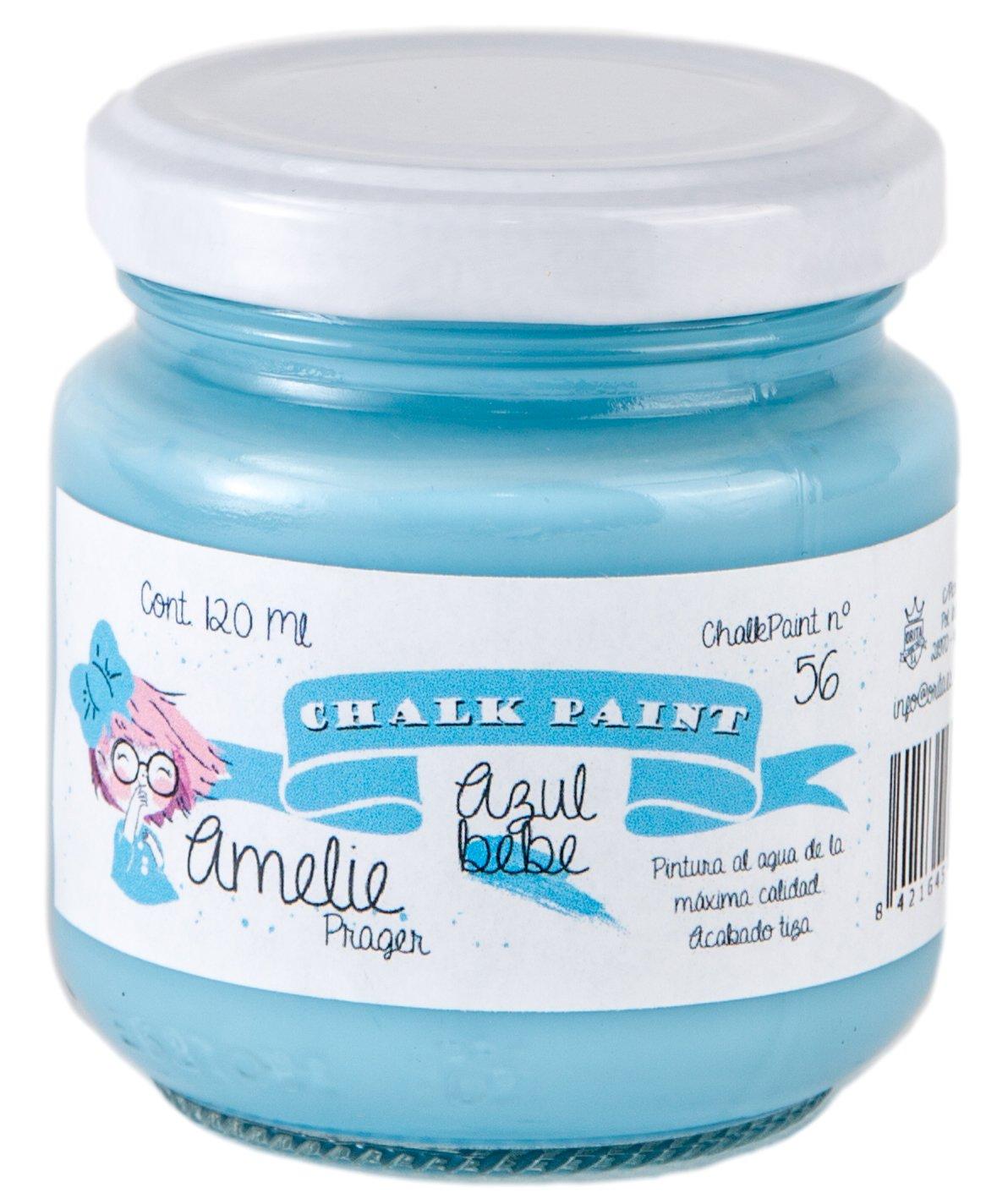 Amelie Prager 120–56peinture à la craie, bleu bébé, 120ml bleu bébé 120ml Orita 120-56