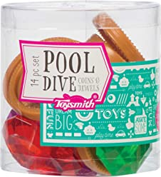 Toysmith Pool Dive Coin & Jewels - Underwater Swimming Toy for Summer Fun and Pool Party